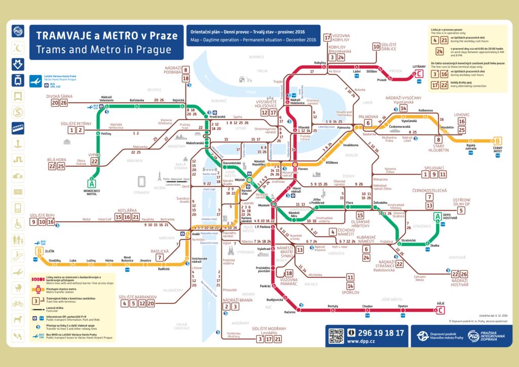 Схема метро и трамвайных маршрутов