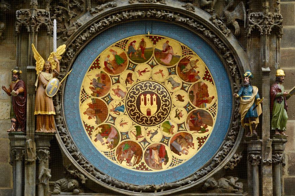 Календарный циферблат пражских курантов